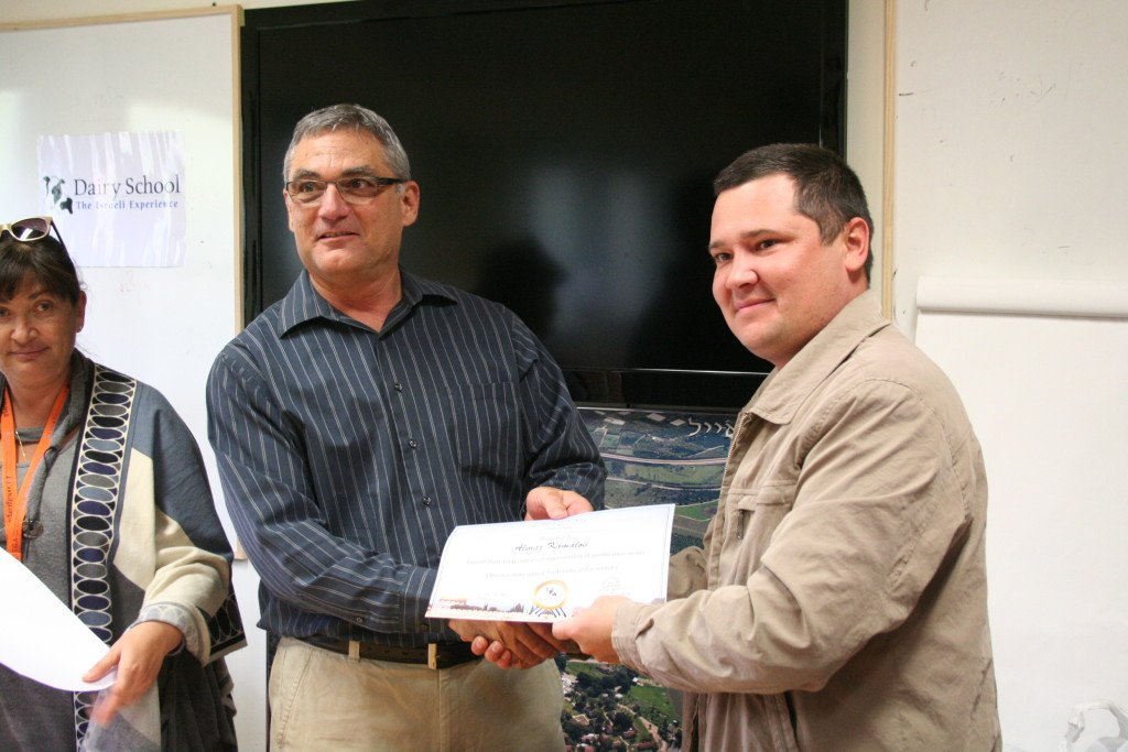 Israeli Dairy School certificate