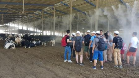 Group of young dairy farmers Visit Israeli Dairy farm